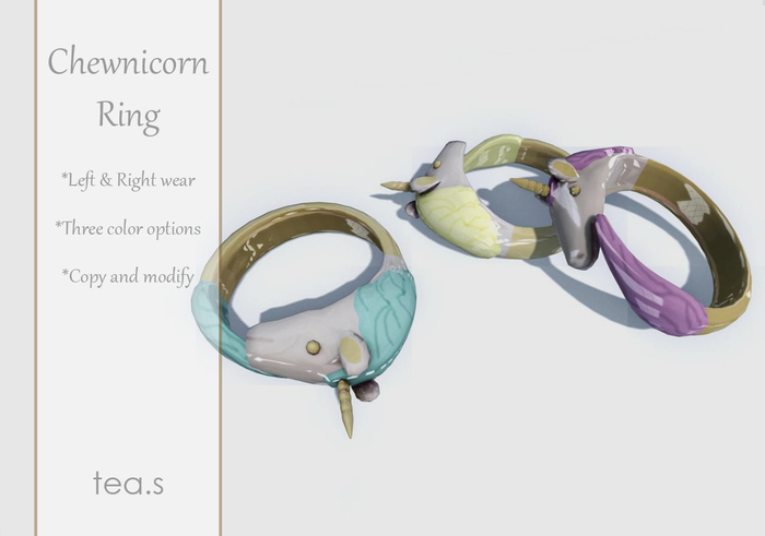 [tea.s] Chewnicorn Ring - Turquoise