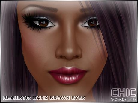 !CHIC! Realistic Dark Brown Eyes