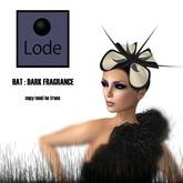 *LODE* Hat - Dark Fragrance [black]