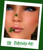 St. Patricks day Clover Shamrock mouth nibble nom nom