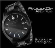 Rispetto Designs - Argento Watch - Black