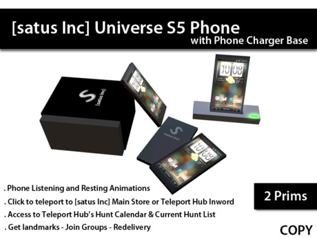 [satus Inc] Universe S5 Phone with Charger Base