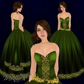 [K~*~S] Monarch - Gown - Emerald
