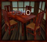 Dark Mahogany Chair And Table. DEMO