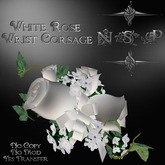 NSP White Rose Wrist Corsage (boxed)
