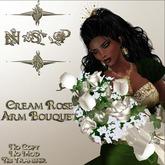 NSP Cream Rose Arm Bouquet (boxed)