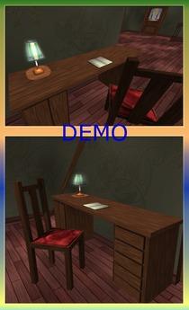 Office Desk + Chair. Mesh. DEMO