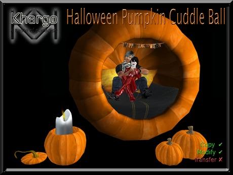 Halloween Pumpkin Cuddle Ball - Menu Driven Cuddle Animation Change