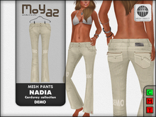 Nadia Mesh corduroy jeans pants - DEMO