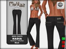 Nadia Mesh corduroy jeans pants - Black