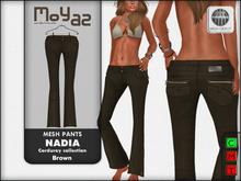 Nadia Mesh corduroy jeans pants - Brown