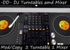 Professional DJ Set with two Turntable and Audio Mixer (2 Turntables, 1 Mixer) HOT!