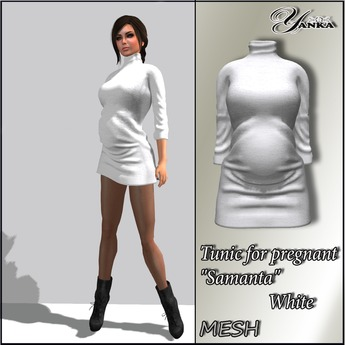 "Tunic for pregnant ""Samanta"" Mesh  from <Yanka>  White"
