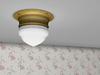 Dutchie mesh antique plafonniere or ceiling lamp