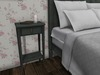 Dutchie mesh colorchange distressed painted bedside table with lock and key
