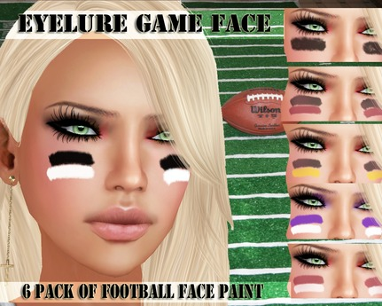 Second Life Marketplace Eyelure Game Face Football Face Paint