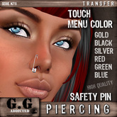 G.G Addicted Nose Piercing N711 < safety pin >