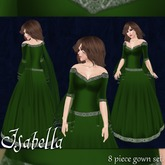 [K~*~S] Isabella - Gown - Emerald
