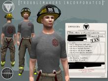 [TRB] Men's Firefighter Outfit: Tan