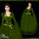 [K~*~S] Mary - Gown - Emerald