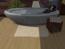 (Pixelwear) White Furry Bathroom Bath Mat