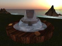 KK Garden Double Fountain (wood) - MC