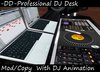 Professional DJ Booth with Turntable, Audio Mixer, DJ Animation, Speakers, Keyboard! DJ Gear for Clubs!