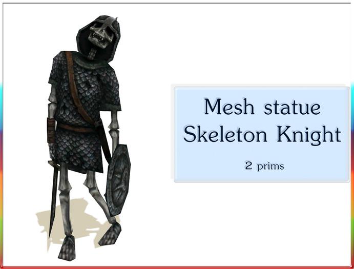 Mesh statue Skeleton Knight