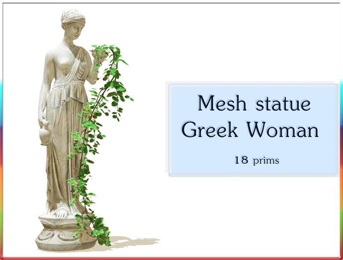 Mesh statue Greek Woman