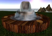 KK Garden Double Fountain (wood) - T