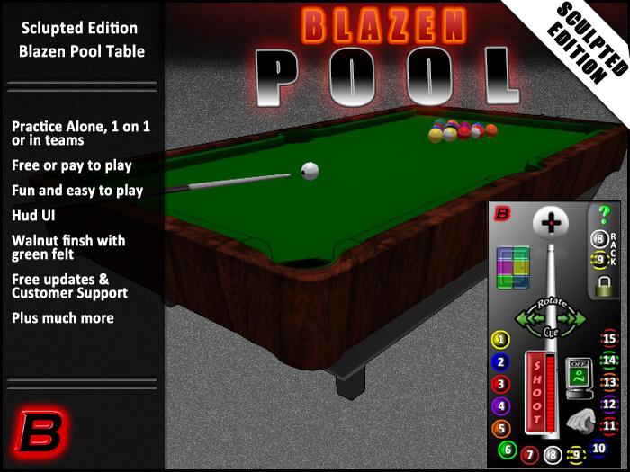 Blazen Pool (Playable Sculpty Pool Table / Billiards)