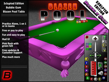 Bubble Gum Pool Table (Playable Sculpty Pool Table / Billiards)