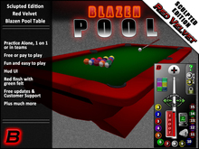 Red Velvet Blazen Pool Table