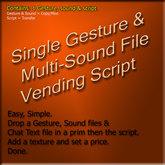 Gesture and Sound Vendor w/Demo Mode
