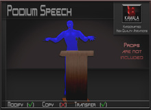 Activities *Podium Speech* Transferable Poseball