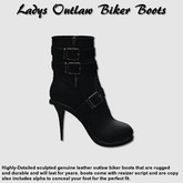 (NYF) - Womens Outlaw Boots - Black