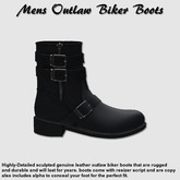 (NYF) - Mens Outlaw Boots - Black