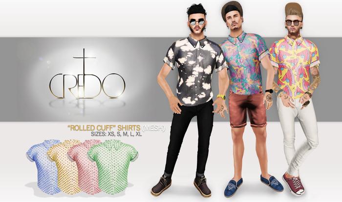 CREDO - 'Rolled Cuff' Shirt Pierre Pack Light