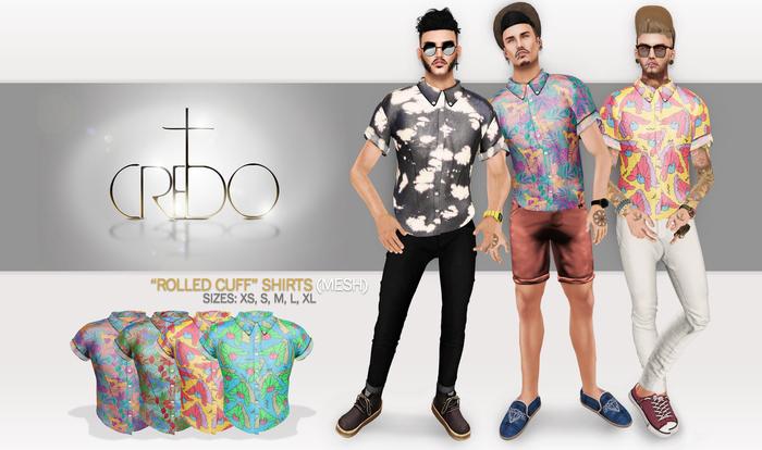 CREDO - 'Rolled Cuff' Shirt Fresh Pack Light