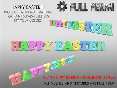 HAPPY EASTER 3D - GIFT