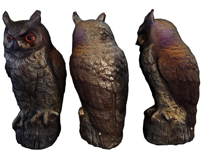 Mesh Owl Statue