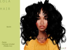 L O L A hair [Black] - By Naomie Dirval