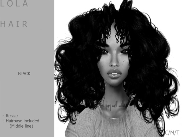 DEMO L O L A hair [Black] - By Naomie Dirval