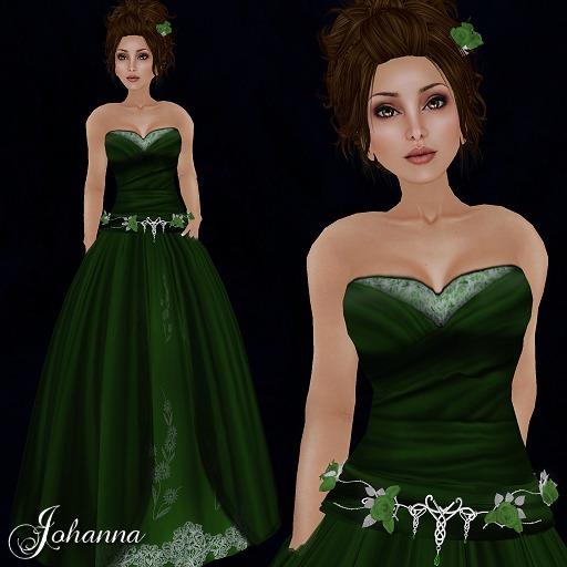[K~*~S] Johanna - Gown - Emerald