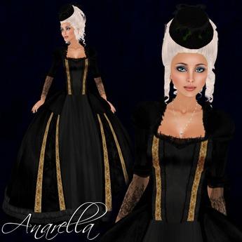 [K~*~S] Anarella - Gown - Golden Midnight
