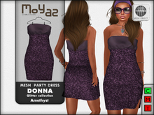 Donna mesh party dress ~ Glitter collection - Amethyst