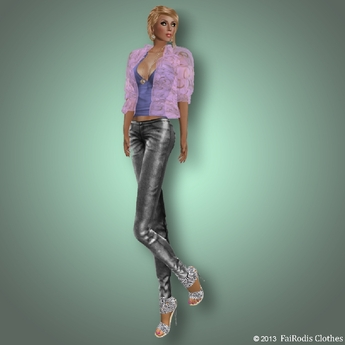 FaiRodis Spring outfit with mesh jeans all sizes
