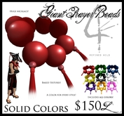 -Giant Prayer Beads- (Solid Colors) - by Khyle Sion at ~RW~