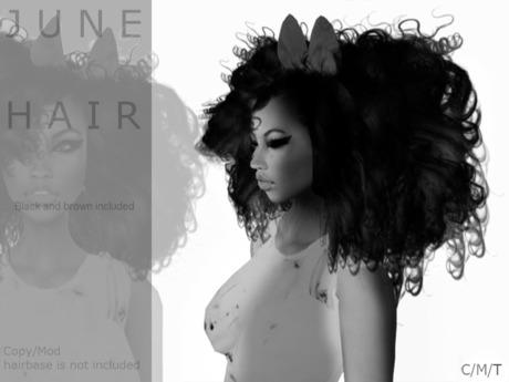 DEMO J U N E hair Blackbrownomber - By Naomie Dirval