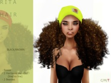 R I T A Hair Drk/brown BEANIE - By Naomie Dirval